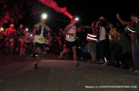 Salida Mundial Trail IAU 2015, con Thevenard marcando el ritmo.