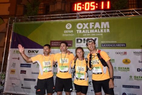 Fotos Oxfam Trail Walker 2015 Madrid; La ilusión de la meta. Foto: Org.