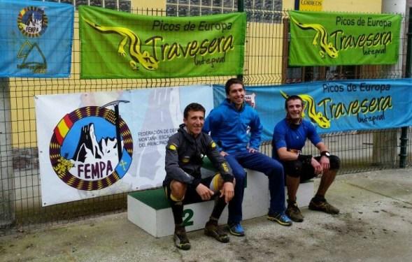 Travesera Picos Euorpa 2015: Podio Manuel Merillas Javi Domínguez y Alex Colomina Foto Javi Domínguez