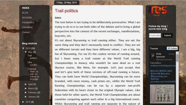 Trail Politics by Andy Symmonds