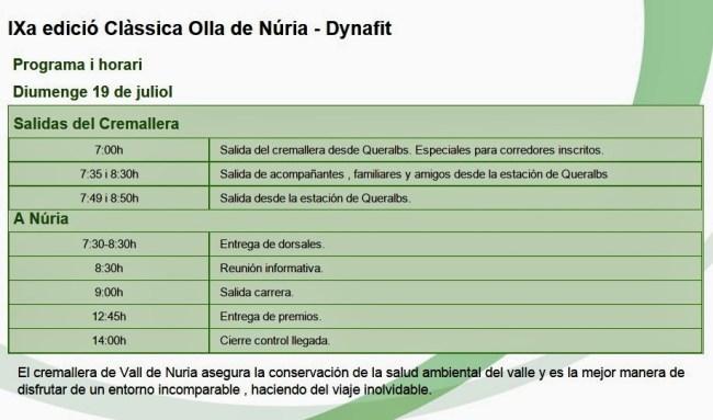 Olla de Nuria 2015 programa