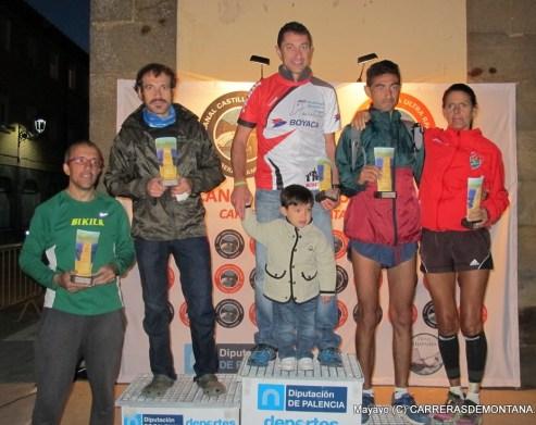 Canal Castilla Ultra: Top5 general: Julio Santos y Eva Esnaola, campeones. Eva tambien 4ª general. Foto: Mayayo