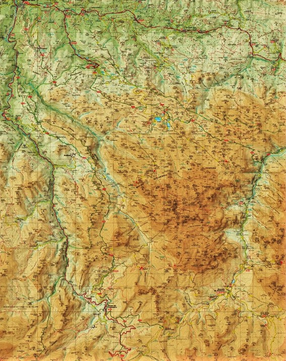 Ocholunas de Picos de Europa 2016 mapa panorámico general.