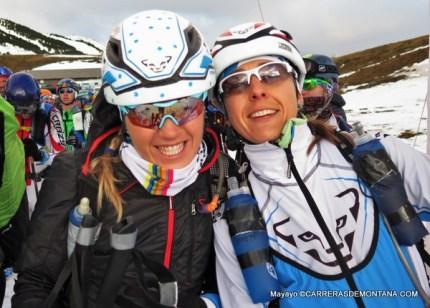 Claudia Galicia y Anna Comet en la salida skimarathon La Molina 2015