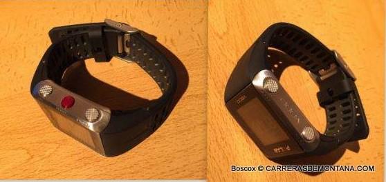 Polar V800, reloj gps multideporte: Vista lateral