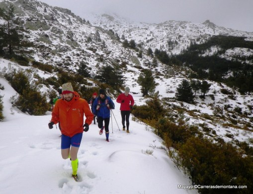 Zeta Pedriza en condiciones invernales.