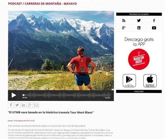 Tour Mont BLanc historia UTMB mayayo