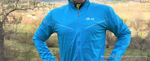 Salomon slab light jacket cortavientos trail running 2