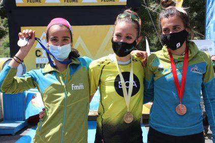 campeonato españa kilomerto vertical 2021 podio femenino magina sky race foto fedme
