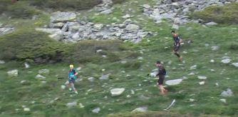 Claudia Tremps llegando al primer avitallamiento en Trail 100 Andorra Foto: Trail 100 Andorra-Pyrenees