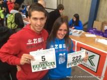 Manuel y Azara en Zegama 2015, donde fueron segundo y primera en meta. Foto: Mayayo
