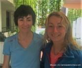 Oihana y Paula en la previa Kilómetro Vertical transvulcania