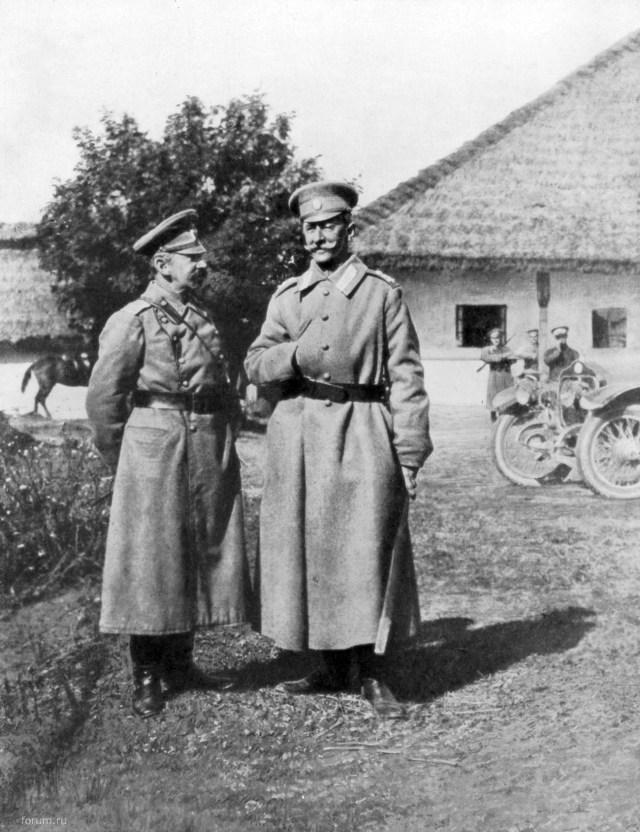 1917. Minerva KWT 28 CV. Генералы Гурко В.И.  Брусилов А.А. Галиция.