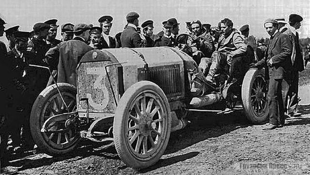 1908. Бенц Виктора Эмери во время пробега СПб-Москва.