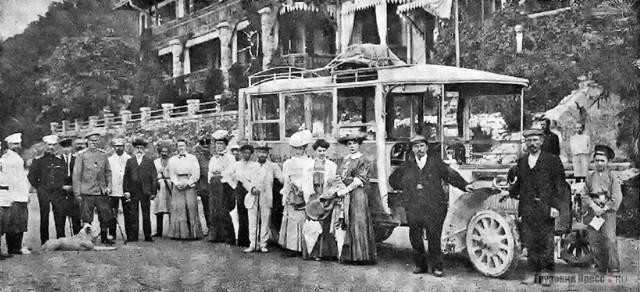1907. Автобус SAG-Gaggenau C28-36 Bus в Гаграх.