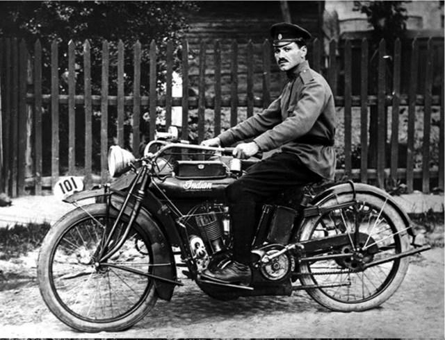 1914. Мотоцикл Indian Powerplus '1000 cc V-twin в Русской Императорской Армии. Минская губерния.