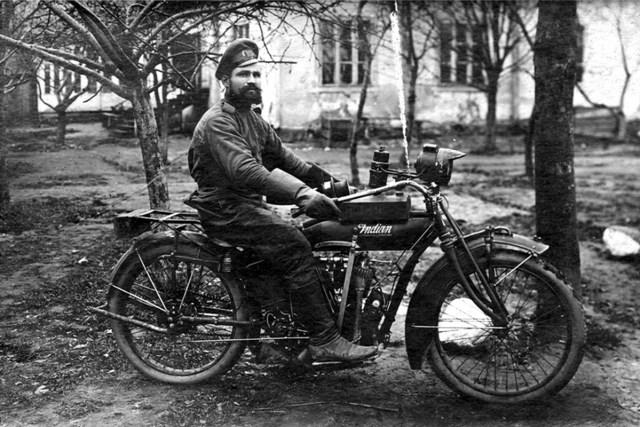 1916. Мотоцикл Indian Powerplus '1000 cc V-twin в Русской Императорской Армии.