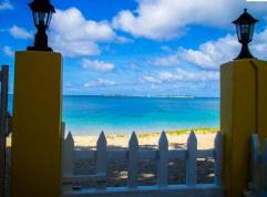 Beach garden villa rental on Paradise Beach.