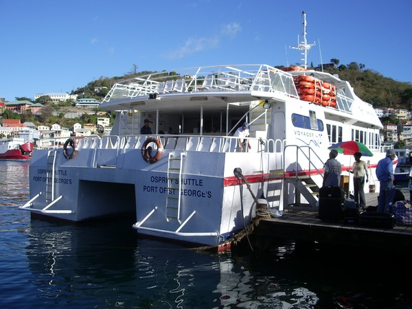The Osprey ferry on the Jetty in Saint Georges on Grenada.