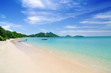 The paradise beach is almost always virtually deserted.