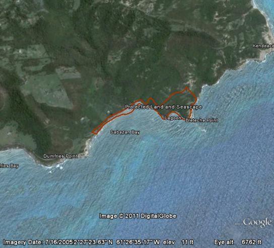 Historical site Sabazan on Carriacou.