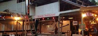 Bar in Tyrell Bay, Slipway restaurant.