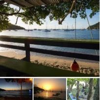 Carriacou Tyrell Bay bar Sundowners.