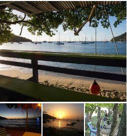 Carriacou Tyrell Bay bar Sundowners.