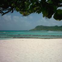 View of Saline Island from White Island Carriacou.