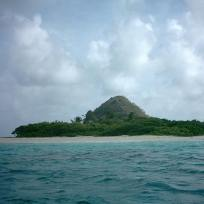 Arrival on White island by boat.