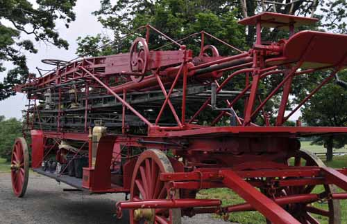 Willi Green often brings unusual vehicles for the Showcase, and this year was no exception when he showed up with a 1902 fire-fighting ladder wagon