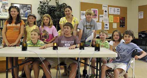 """several of the youth in attendance gathered for an exciting """"equine quiz bowl"""" game on Friday"""