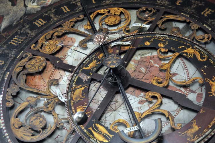 a portion of the fascinating and elaborate astrological clock in Münster's cathedral