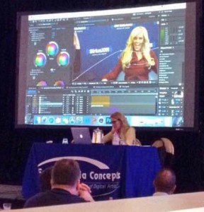 Jessica Thomas with Tytan Pictures Presents at Adobe Video World Conference