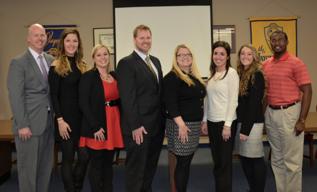 CAPTION: Savannah Jaycees 2016 Executive Board, L to R/ Patrick Spivey, Cynthia Wright, Lauren Mathews, Ken Adams, Cheryl Lawrence, Shannon Dempsey, Morgan Pence, Antwan Lang. Missing from Photo: Randi Hampel and Ammie Dover.