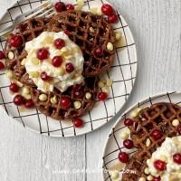 Spiced Chocolate Ricotta Waffles | Yogi Parker
