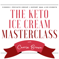 The Keto Ice Cream Scoop Cookbook : One-click shopping list