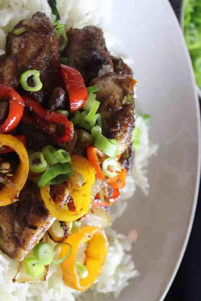salt and pepper chicken stirfry