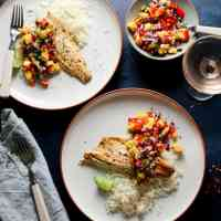 Chilli Lime Sea Bass with Mango Salsa