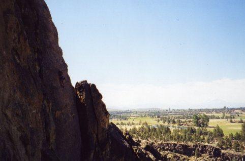 19 Sep 1999 Smith Rock - Monty, Sunset Slab 1
