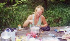 28 Aug 1999 Breakfast at Grayland Beach SP