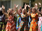 Traditional Rwandan Dancing! (or attempting to, at least)