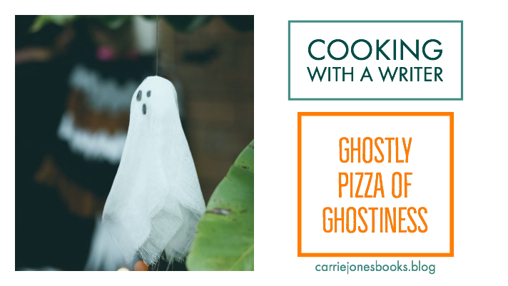 Ghostly Pizza Recipe Cooking with a writer Vegetarian recipes