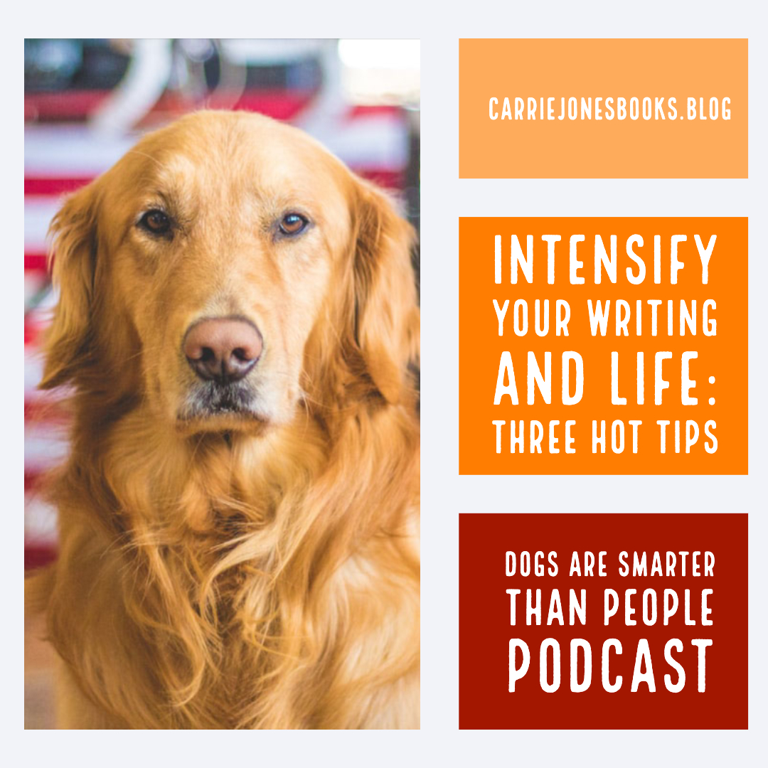 Three Hot Tips to Make Your Writing and Life Way More Intense in a Good Way – Dogs are Smarter Than People Writing Podcast