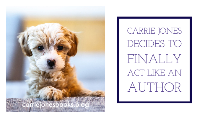 CARRIE JONES DECIDES TO FINALLY ACT LIKE AN AUTHOR