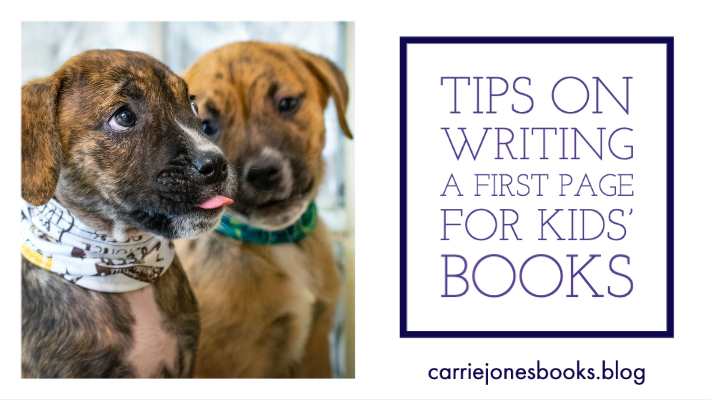 Tips on Writing a First Page for Kids' Books