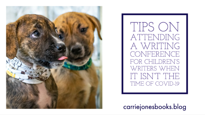 Tips on Attending a Writing Conference for Children's Writers When It Isn't the Time of Covid-19