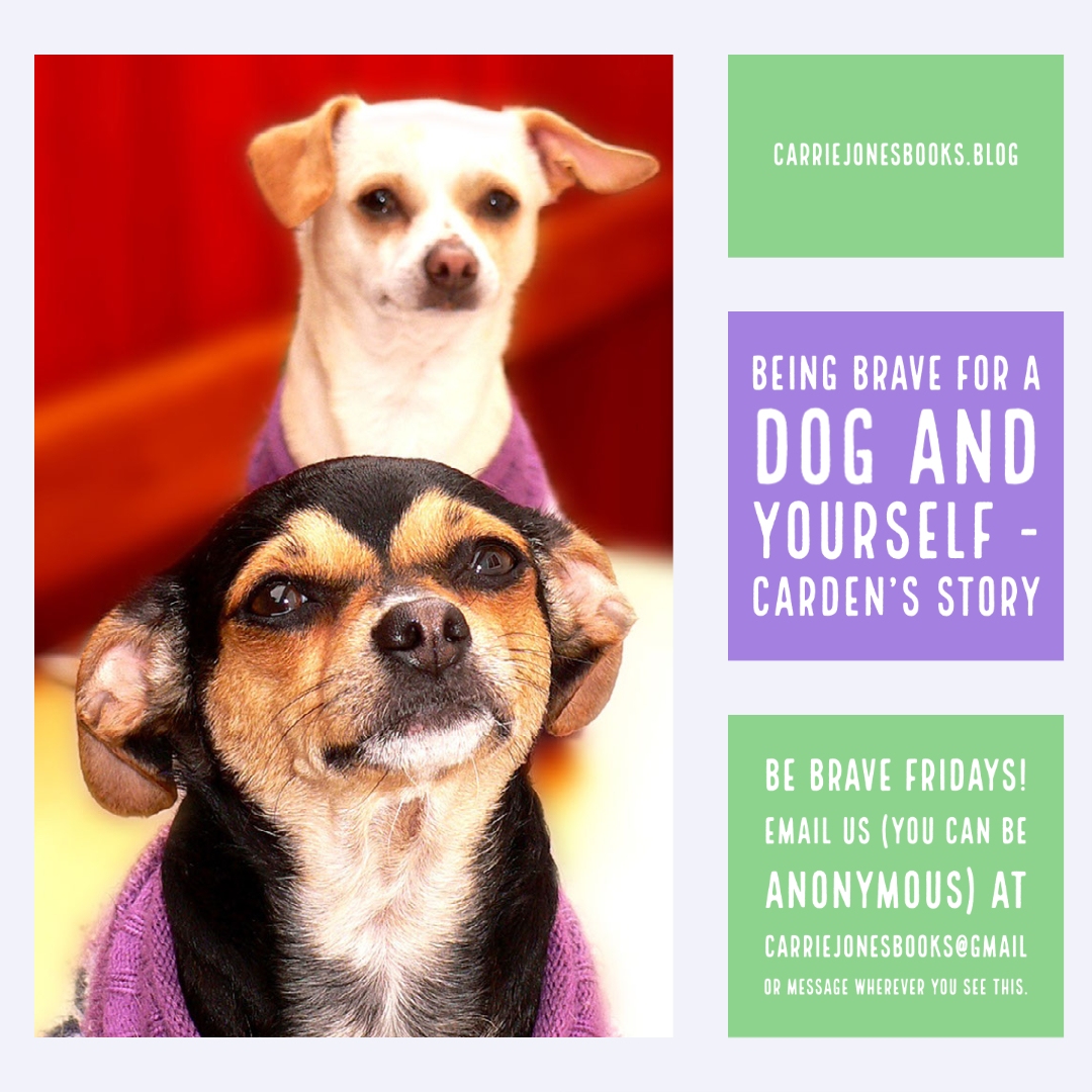 BE BRAVE FRIDAY – BEING BRAVE FOR A DOG AND YOURSELF