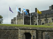 flags on terrace, Stirling Castle, Stirling-shire