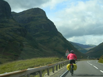 approach of the Three Sisters, the A82, Glen Coe